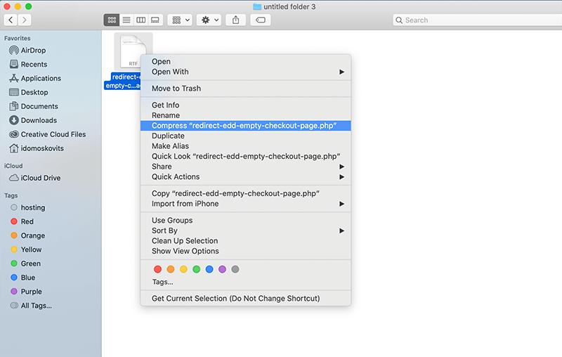 Compress php custom plugin into a zip file