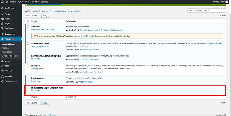 Custom WordPress code is active