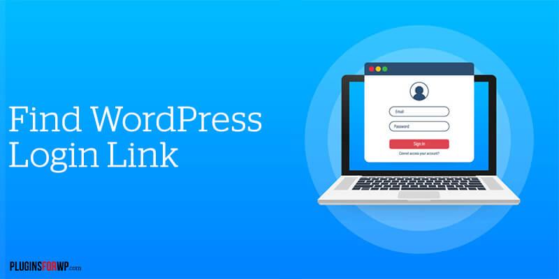 How to Find WordPress Login URL Link Page