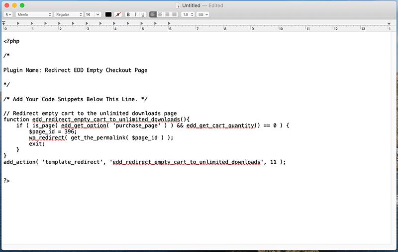 creating WordPress custom code