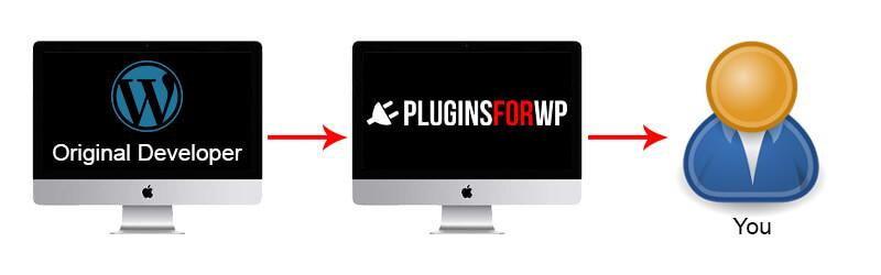 Original developer to pluginsforwp to you