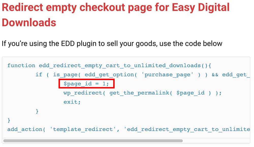 Custom function need a page ID