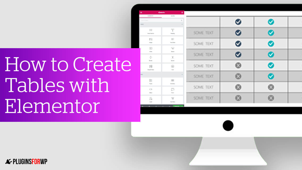 Elementor Table Guide – Create Beautiful Tables with Elementor in WordPress