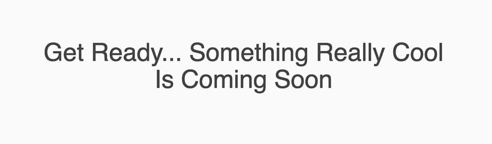 Minimal coming soon template