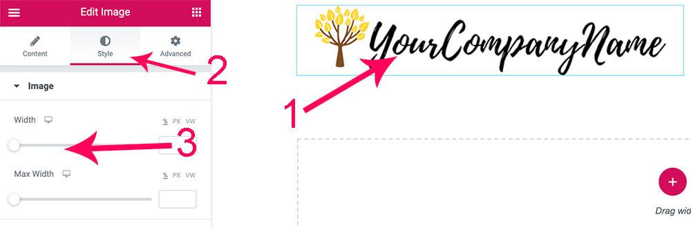Adjust image size with elementor page builder