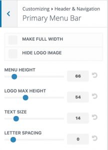 Divi logo size sliders