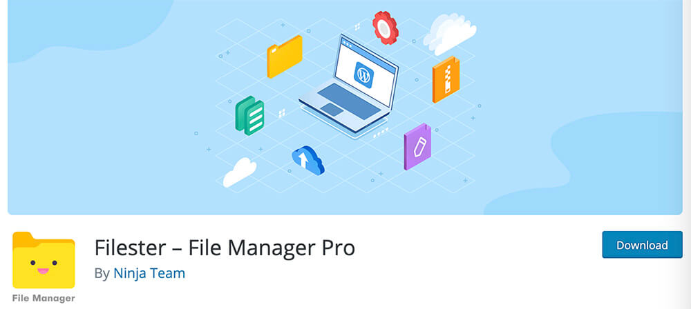 Filester upload files plugin
