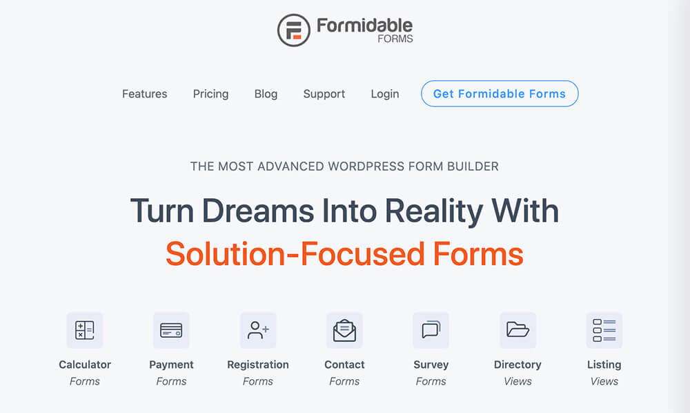 Formidable WordPress plugin