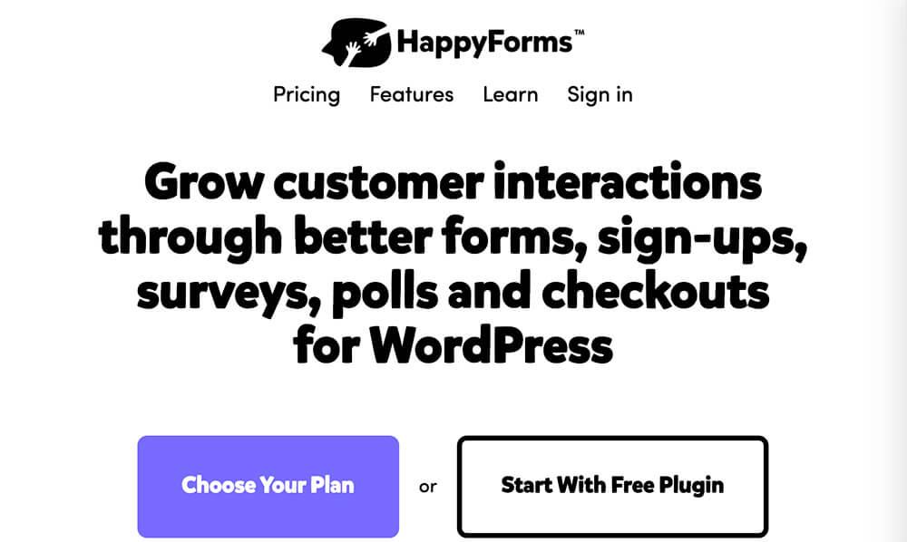 Happy forms WordPress plugin
