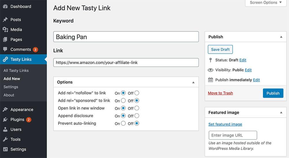 Tasty Links WordPress plugin