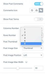 JetBlog change rows number