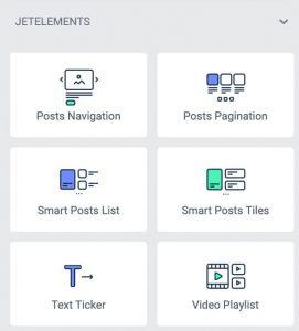 JetBlog plugin for Elementor widgets