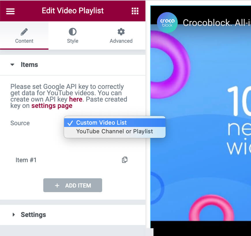 Video Playlist Source