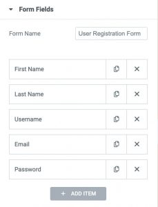 Creating the registration form