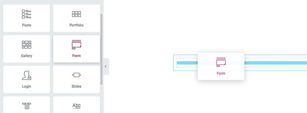 Elementor form widget
