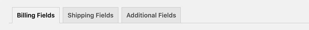 Field tabs