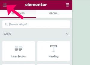 Elementor plugin global settings