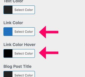 GeneratePress link colors