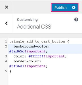 Change WooCommerce buttom color CSS
