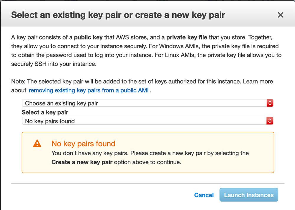 Create an AWS key pair