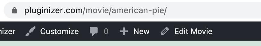 Custom post url