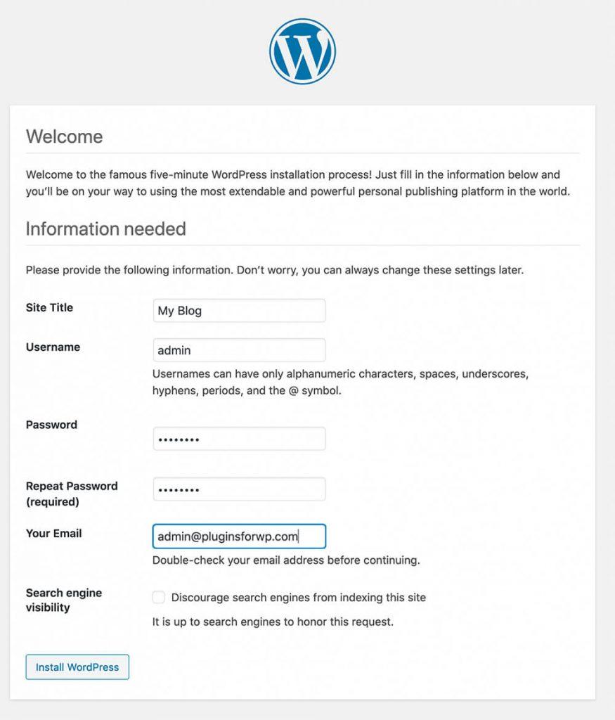 WP config file error