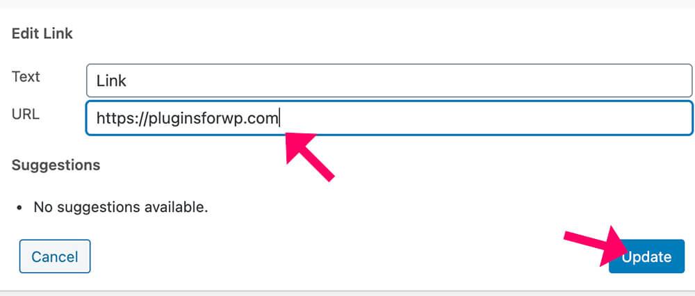 Update the URL