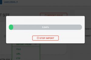 Importing a WordPress site