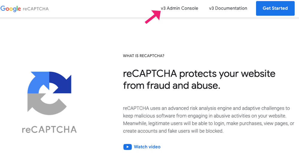 Google reCaptcha website