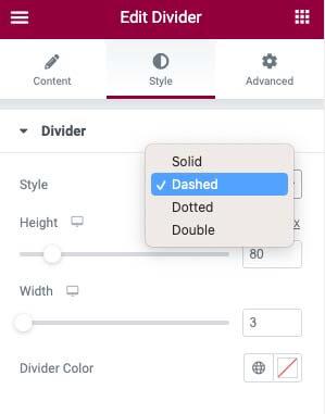 Change divider style