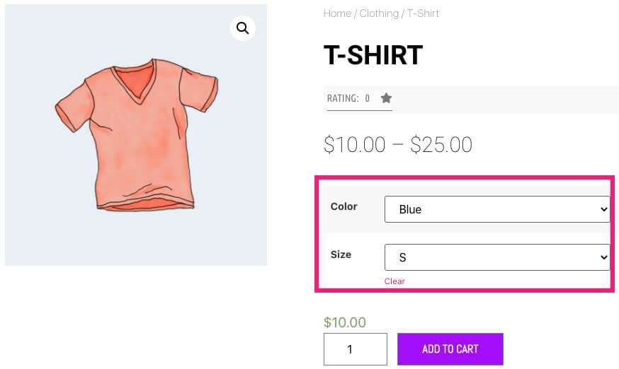 Set a default variation value in WooCommerce