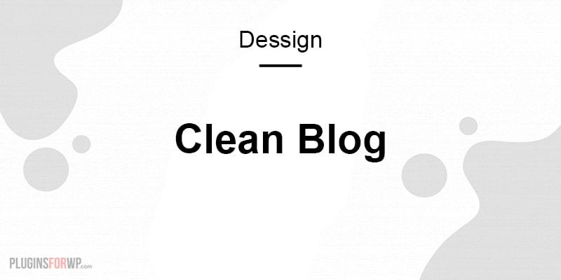 Clean Blog Responsive WordPress Theme