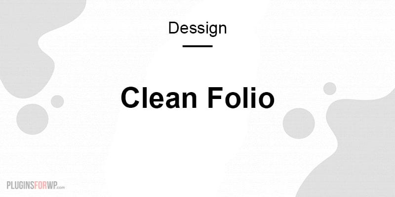 Clean Folio Responsive WordPress Theme
