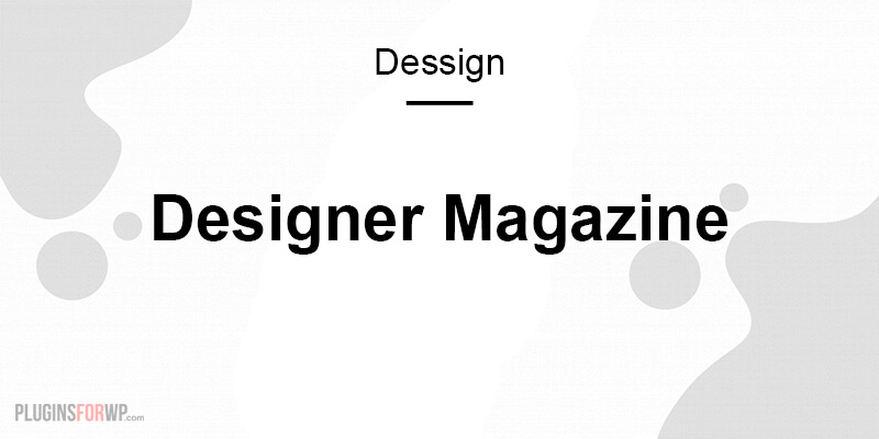 Designer Magazine Responsive Theme