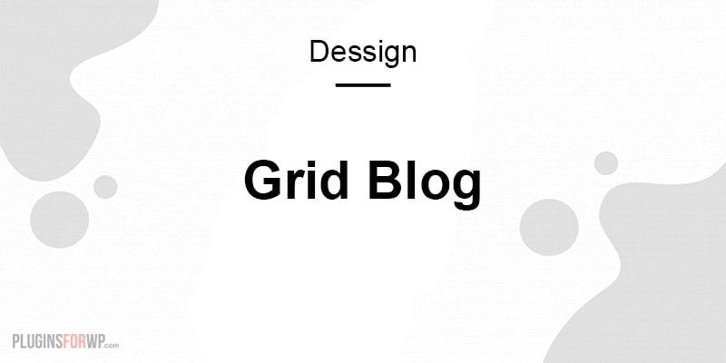 Grid Blog Theme Responsive