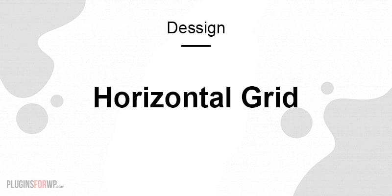 Horizontal Grid Responsive Theme