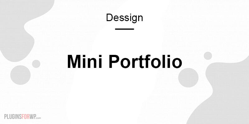 Mini Portfolio Responsive Theme