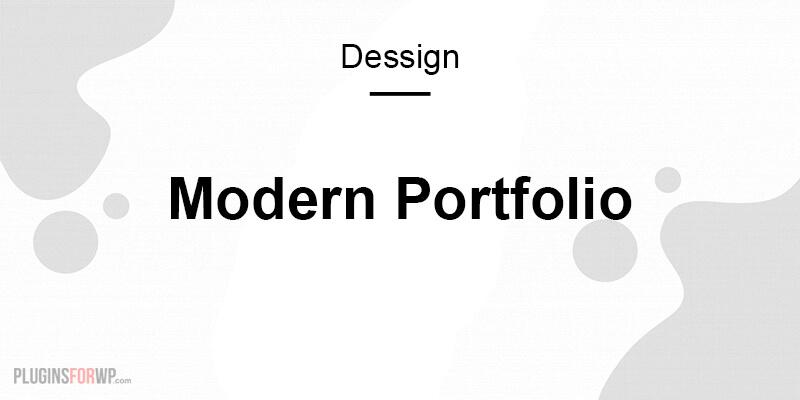 Modern Portfolio Responsive WordPress