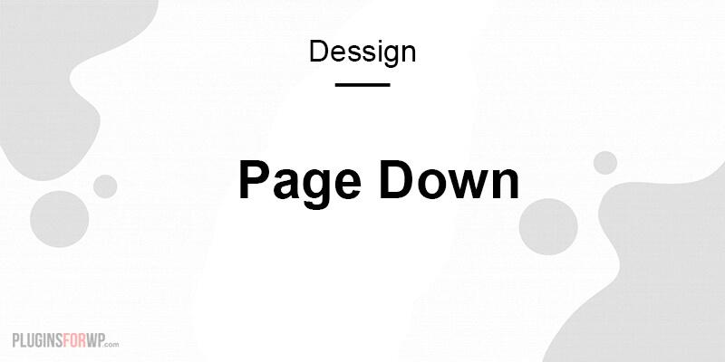 Page Down Responsive WordPress Theme