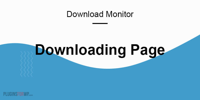Download Monitor – Downloading Page