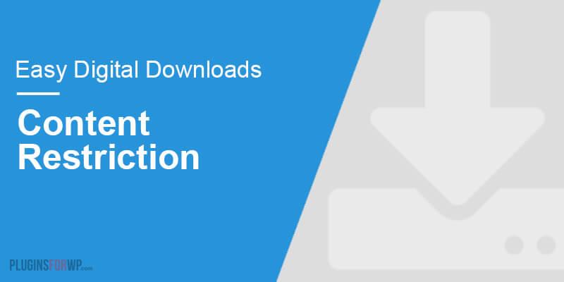 Easy Digital Downloads – Content Restriction