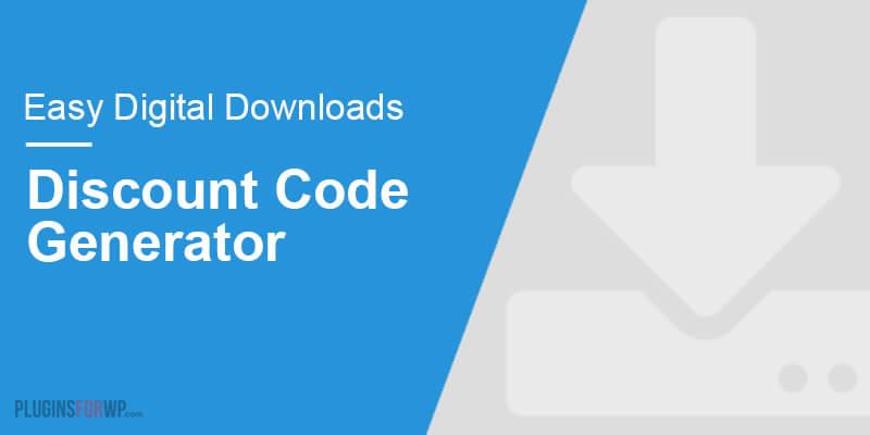 Easy Digital Downloads – Discount Code Generator