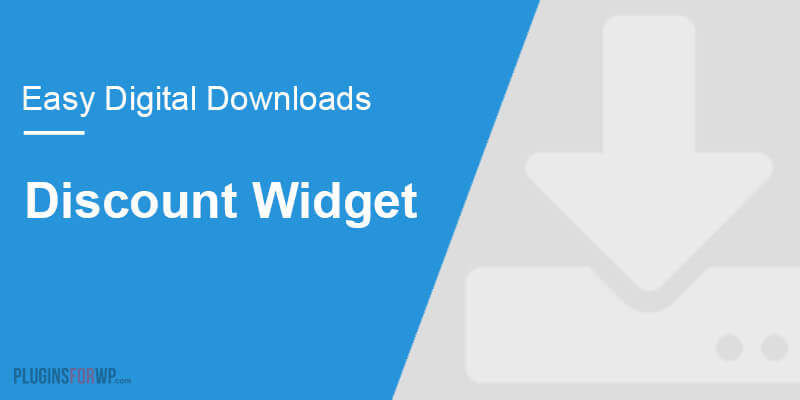 Easy Digital Downloads – Discount Widget