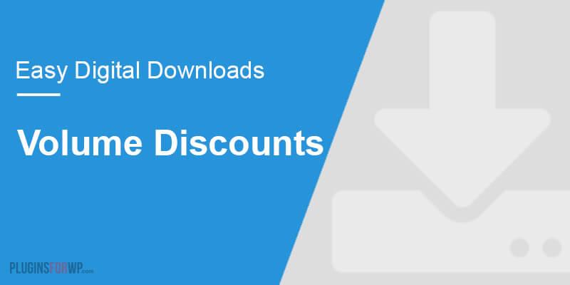 Easy Digital Downloads – Volume Discounts