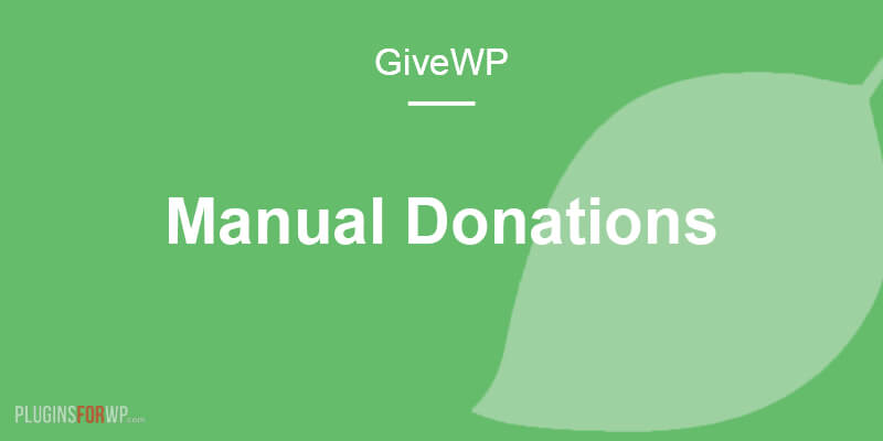 Give – Manual Donations