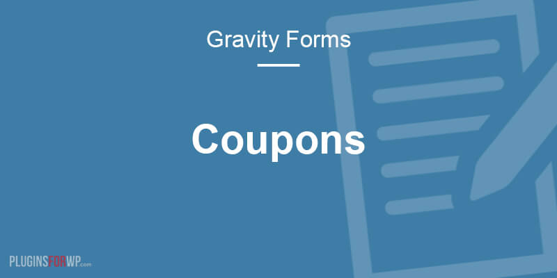 Gravity Forms Coupons Add-On
