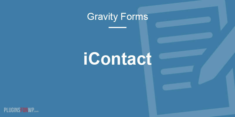 Gravity Forms iContact Add-On