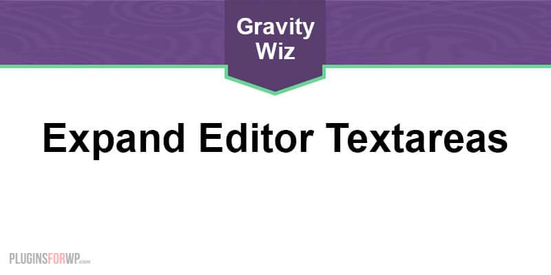 GP Expand Editor Textareas