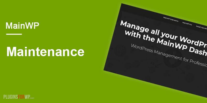 MainWP Maintenance Extension