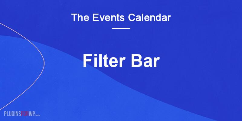 The Events Calendar: Filter Bar